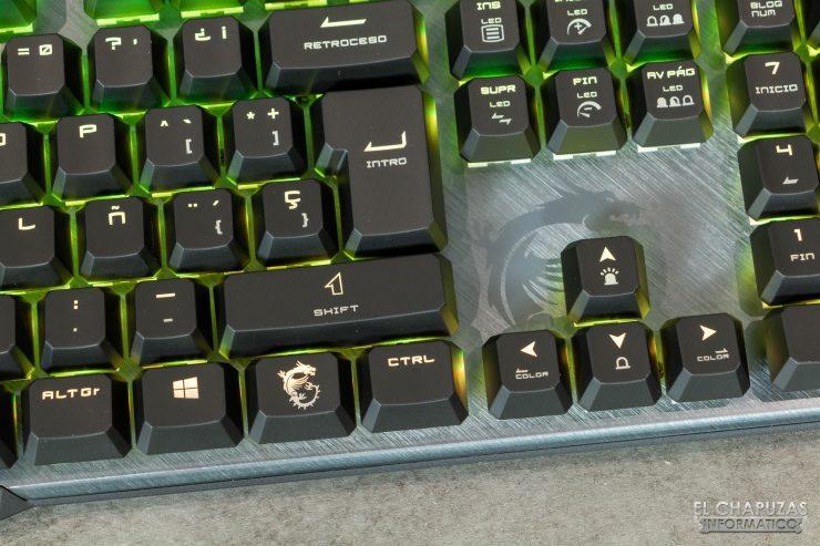 MSI Vigor GK50 Elite - Detalle teclas 3