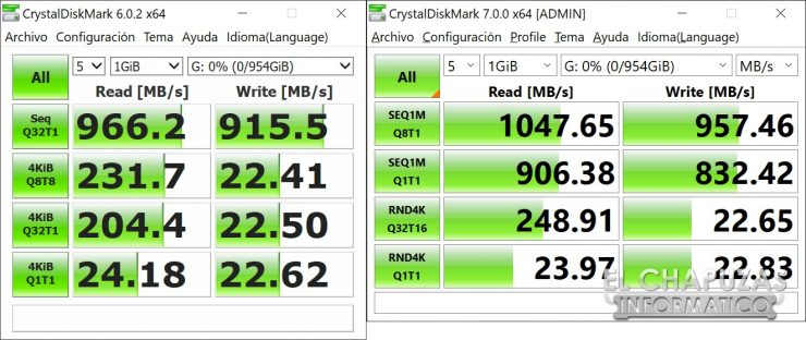 Orico GV100 - CrystalDiskMark