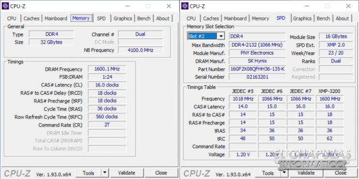 PNY XLR8 RGB - CPU-Z