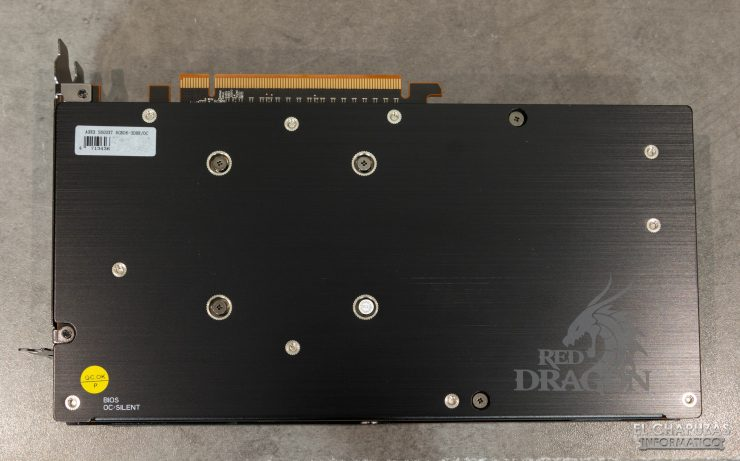 Powercolor Red Dragon Radeon RX 5600 XT - Backplate