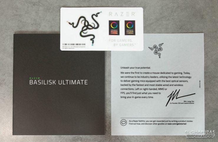 Razer Basilisk Ultimate - Documentación y pegatinas