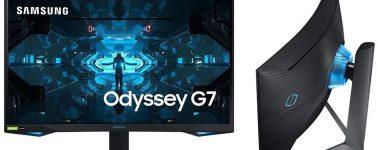 Samsung Odyssey G7 C27G7: 27″ WQHD @ 240 Hz, G-Sync Compatible y DisplayHDR 600