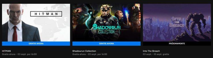 Juegos gratis de la Epic Games Store