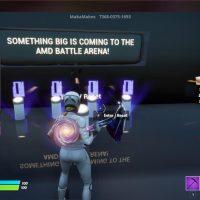 AMD aprovecha Fortnite para avisar de que algo «BIG» está llegando al mapa AMD Battle Arena