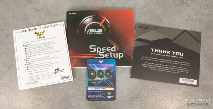 Documentos de la Asus TUF GeForce RTX 3080 OC