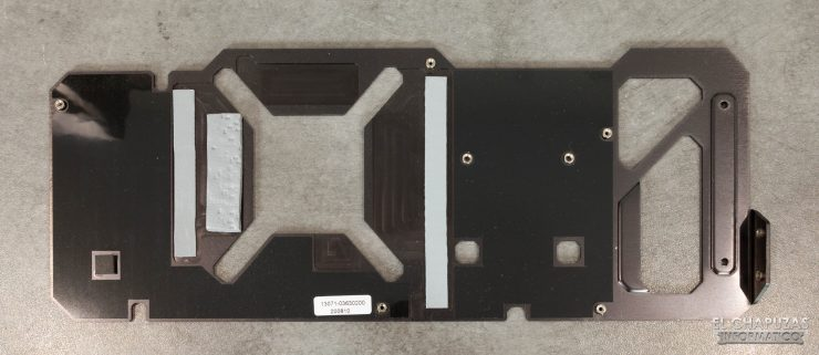 Backplate de la Asus TUF GeForce RTX 3080 OC