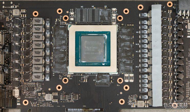 Componentes esenciales de la Asus TUF GeForce RTX 3080 OC