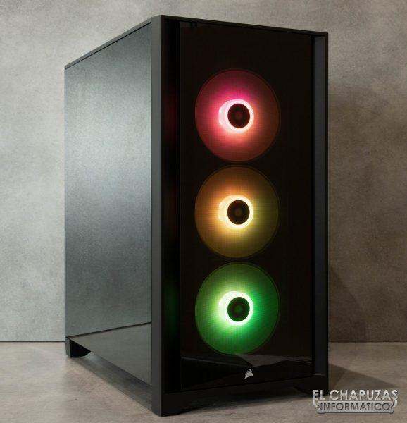 Corsair iCUE 4000X RGB - Encendida