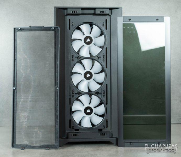 Corsair iCUE 4000X RGB - Frontal abierto