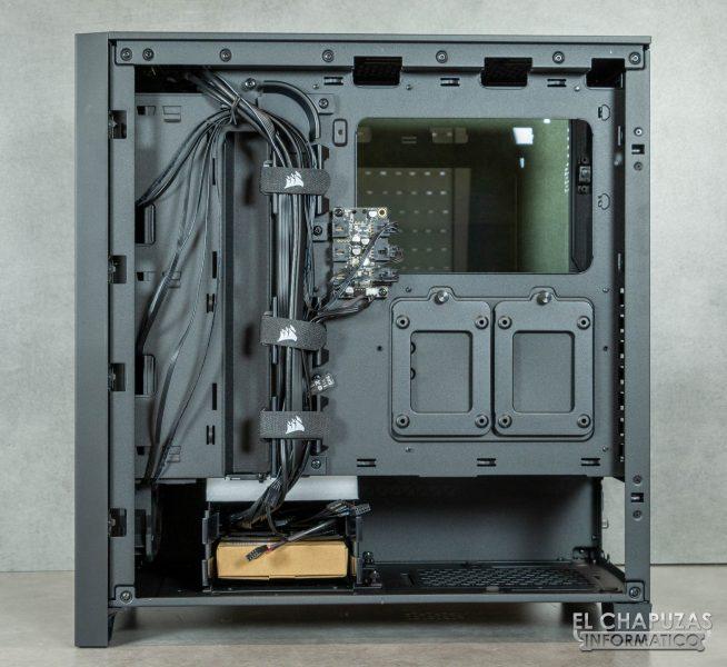 Corsair iCUE 4000X RGB - Interior lado secundario