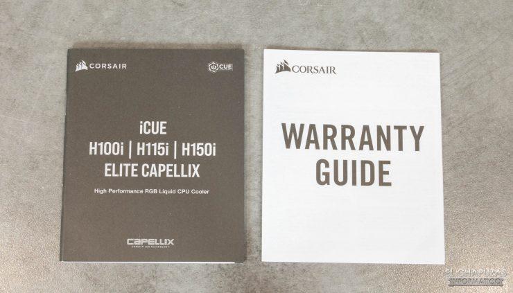Corsair iCUE H150i Elite Capellix - Documentación