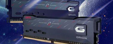 GeIL anuncia sus memorias RAM ORION Phantom Gaming de hasta 64GB @ 3600 MHz CL16