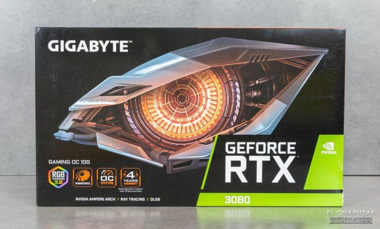 Gigabyte GeForce RTX 3080 Gaming OC 10G - Embalaje frontal