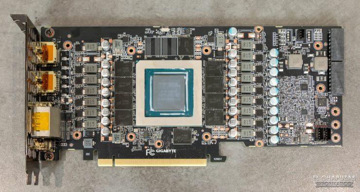 Gigabyte GeForce RTX 3080 Gaming OC 10G - PCB frontal limpio