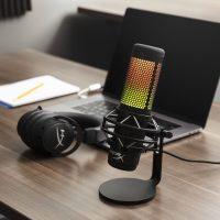 HyperX QuadCast S: Micrófono de mesa con iluminación RGB certificado por Discord y TeamSpeak