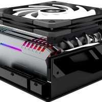 ID-Cooling IS-60 EVO ARGB: Disipador para Mini-PCs con 6x heatpipes de cobre y doble ventilador