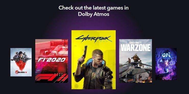 Juegos Xbox Series S con Dolby Atmos