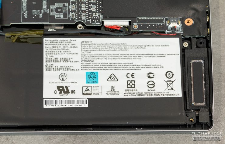 MSI Creator 17 A10SGS - Batería