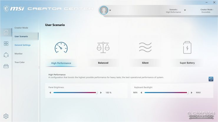 MSI Creator 17 A10SGS - Creator Center 2