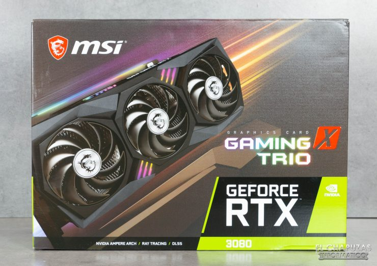 Caja de la MSI GeForce RTX 3080 Gaming X Trio 10G