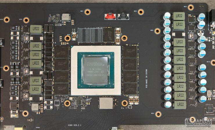 Componentes vitales de la MSI GeForce RTX 3080 Gaming X Trio 10G