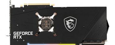 MSI lanza sin hacer ruido su GeForce RTX 3080 Gaming X Trio v2 con otra configuración de condensadores