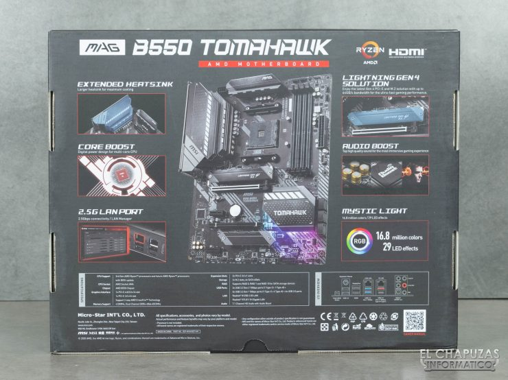 MSI MAG B550 Tomahawk - Embalaje 2