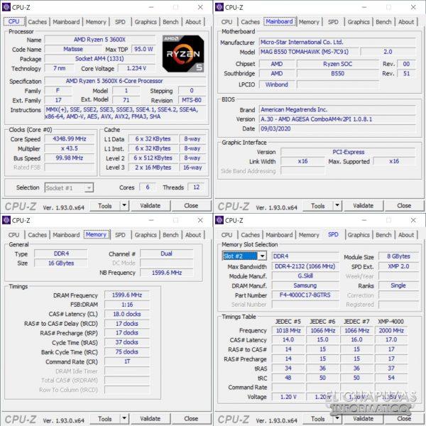 MSI MAG B550 Tomahawk - CPU-Z