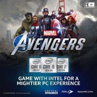 Marvel's Avengers incluirá optimizaciones y mejoras específicas para los procesadores Intel Core