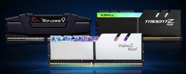 G.Skill lanza sus memorias de baja latencia DDR4 @ 4400/4000 MHz CL16