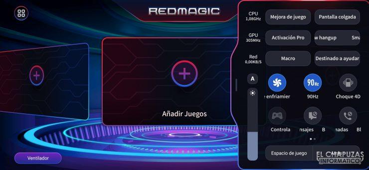 Nubia Red Magic 5S - Game Space 2.1 - Configuración