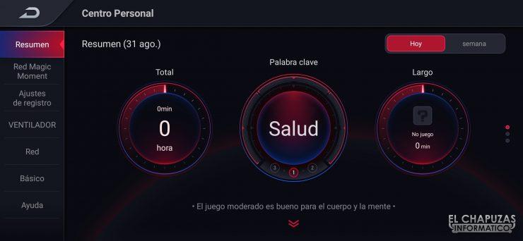 Nubia Red Magic 5S - Game Space 2.1 - Monitorización