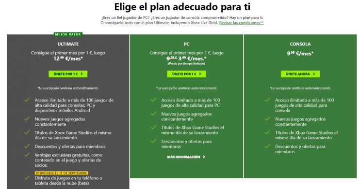 Xbox Game Pass en PC