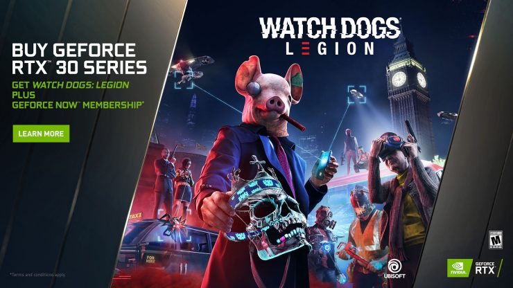 Watch Dogs Legion gratis GeForce RTX 30 Series 740x416 0