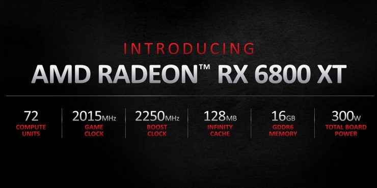 AMD Radeon RX 6800 XT - Especificaciones