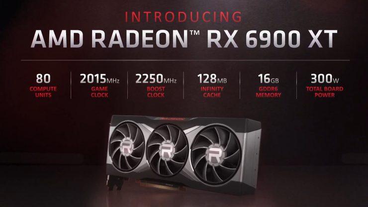 Especificaciones de la AMD Radeon RX 6900 XT