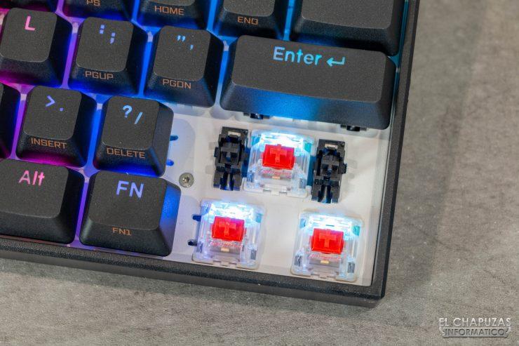 Anne Pro 2 - Interruptores Gateron Red