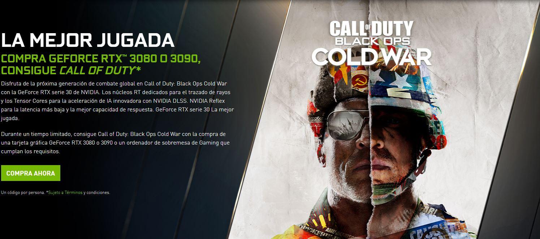Nvidia regala el Call of Duty: Black Ops Cold War con la compra de una  GeForce RTX 30