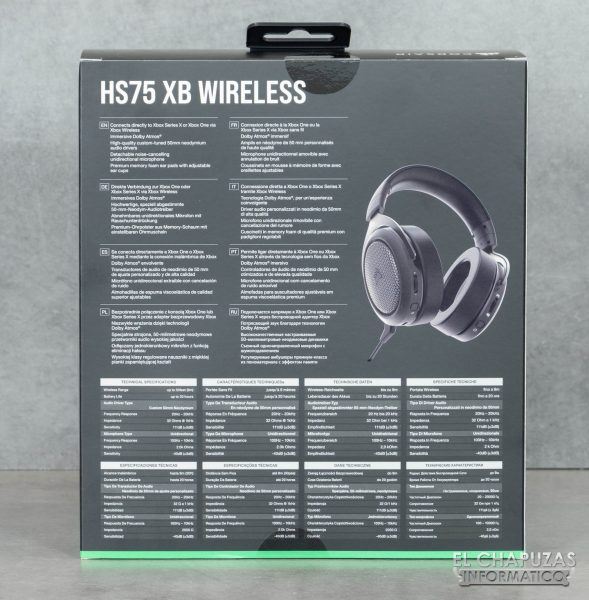 Corsair HS75 XB Wireless - Embalaje 2