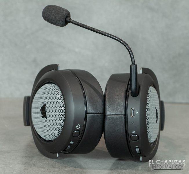 Corsair HS75 XB Wireless - Vista inferior