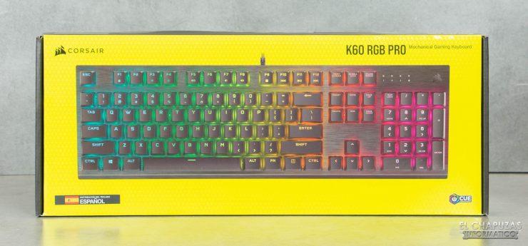 Corsair K60 RGB Pro - Embalaje frontal