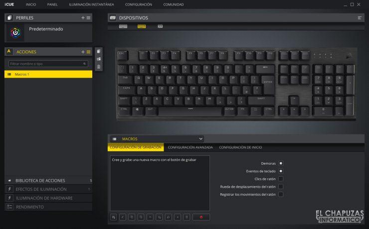 Corsair K60 RGB Pro - Software 1