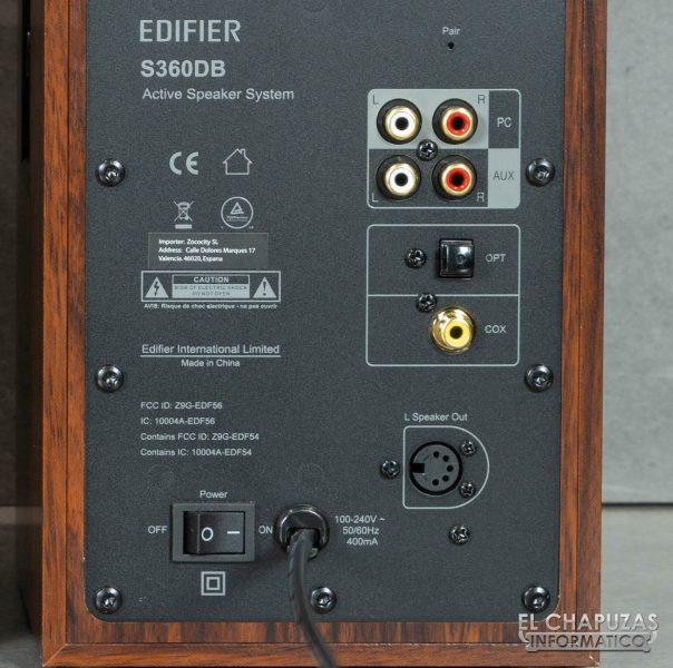 Edifier S360DB - Conectividad
