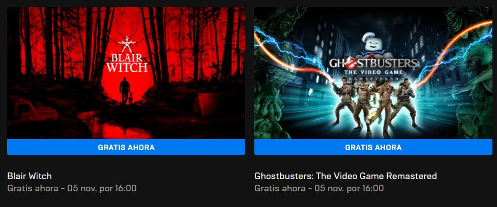 Ghostbusters y Blair Witch gratis