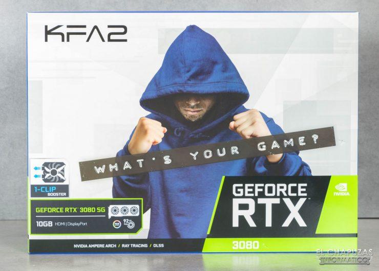 KFA2 GeForce RTX 3080 SG - Embalaje frontal