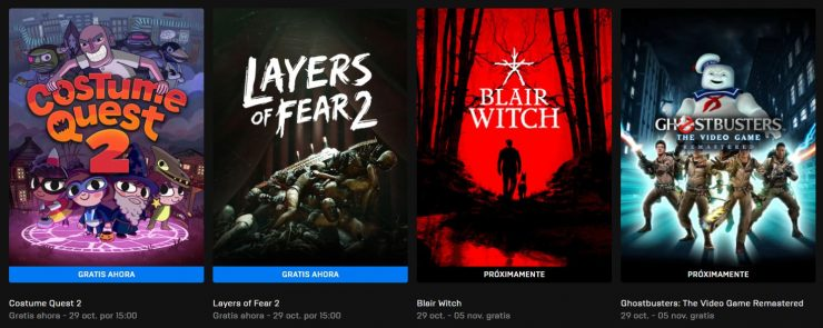 Layers of Fear 2 y Costume Quest 2 gratis en Epic Games Store