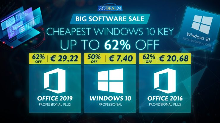 Windows 10 y Office en Godeal24