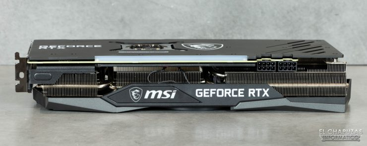 MSI GeForce RTX 3070 Gaming X Trio - Vista lateral