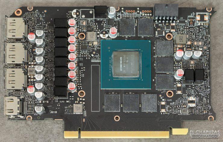 Placa base de la Nvidia GeForce RTX 3070 Founders Edition