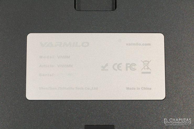 Varmilo VA88M - Chapa
